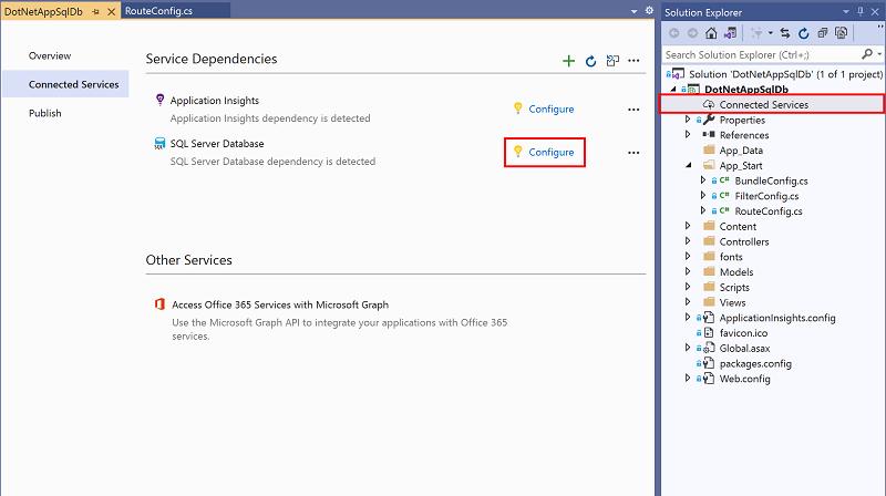 Build ASP NET app with SQL Database - Azure App Service