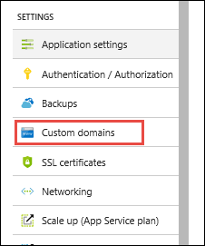 In The App Service Domains Section Select The Domain You Want To Configure