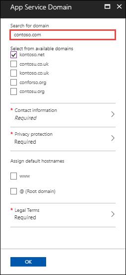 Buy custom domain name in Azure - App Service   Microsoft Docs