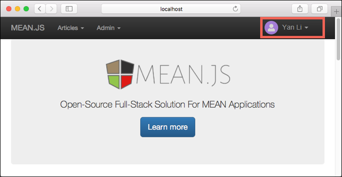 MEAN.js connects successfully to MongoDB