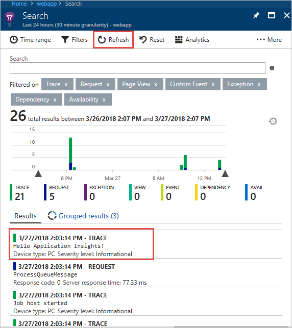 logs in ai - Add Application Insights To Existing Project