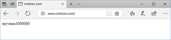 Test contoso site in application gateway