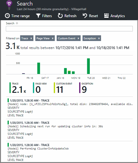 explore net trace logs in application insights microsoft docs