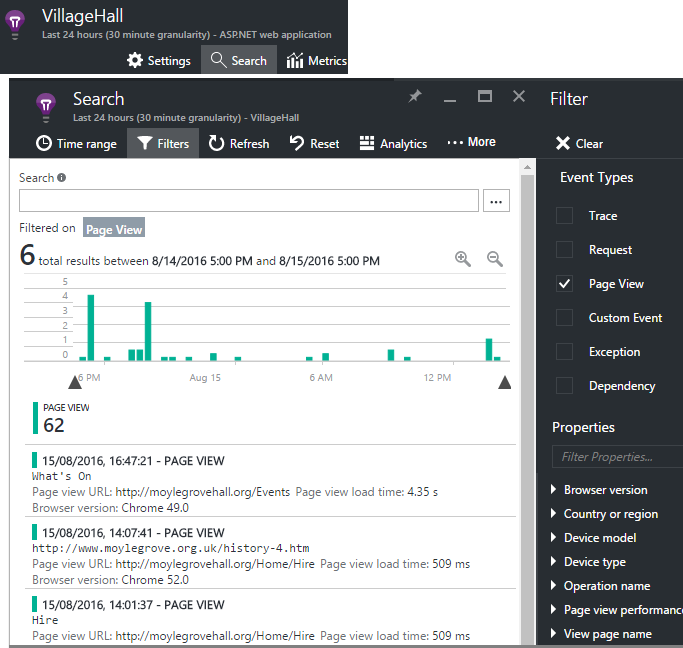 Azure Application Insights for JavaScript web apps   Microsoft Docs
