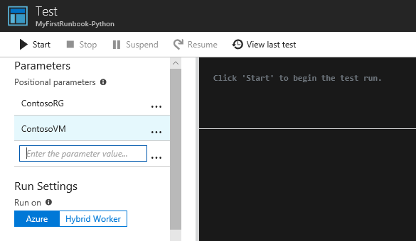 My first Python runbook in Azure Automation | Microsoft Docs
