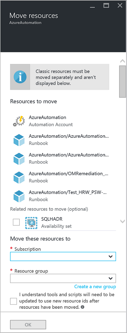 Migrate Automation Account And Resources
