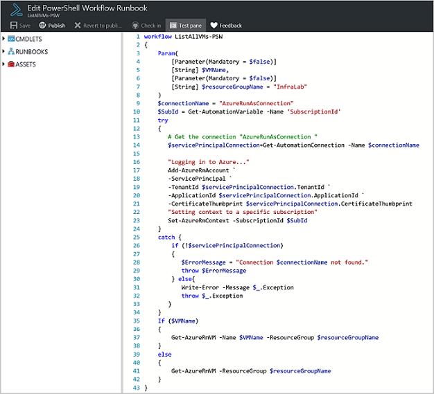 Runbook input parameters | Microsoft Docs