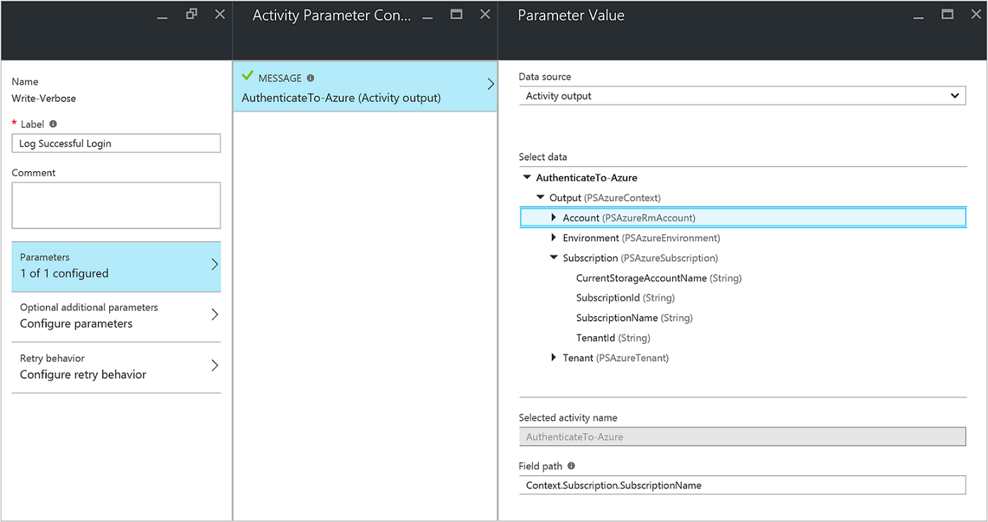 Runbook Output and Messages in Azure Automation | Microsoft Docs