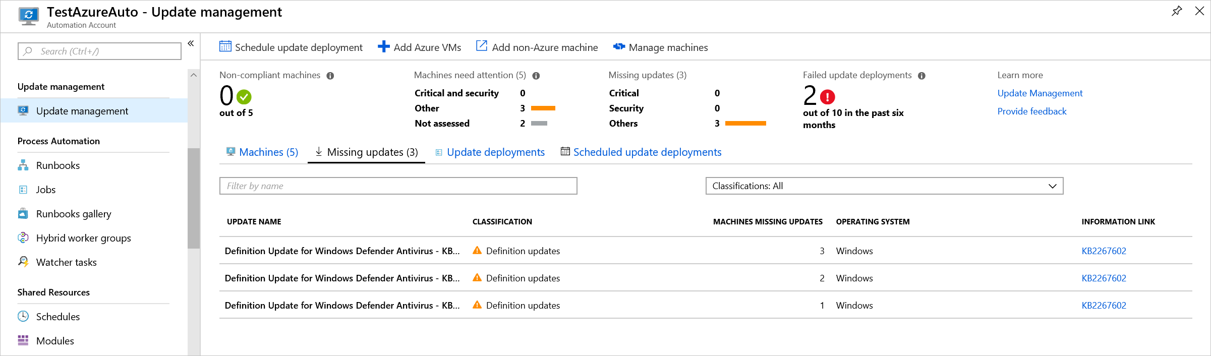 Manage updates and patches for your Azure Windows VMs