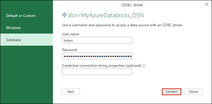 Connect to Azure Databricks from Excel, Python, or R