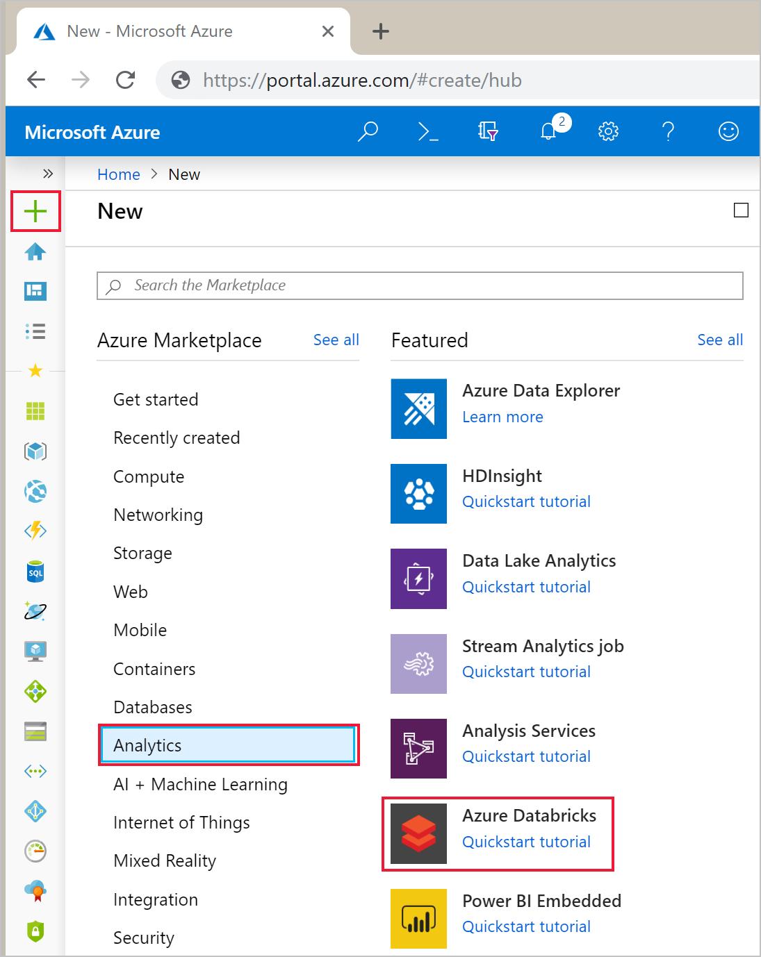 Quickstart: Run a Spark job on Azure Databricks using Azure portal