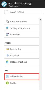 App Service API definition