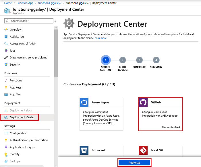 Continuous deployment for Azure Functions | Microsoft Docs