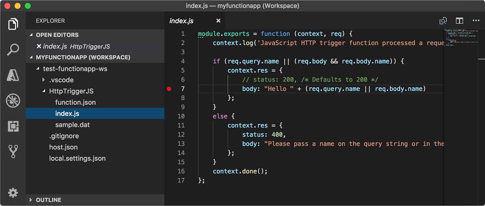 Develop Azure Functions by using Visual Studio Code | Microsoft Docs