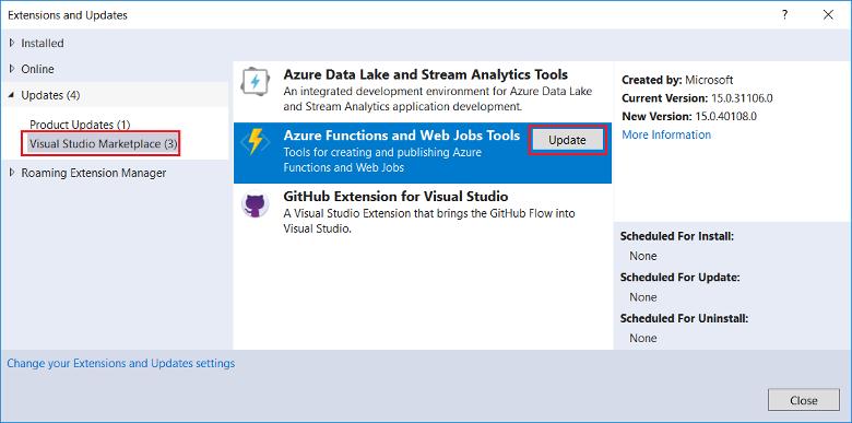 Develop Azure Functions using Visual Studio | Microsoft Docs
