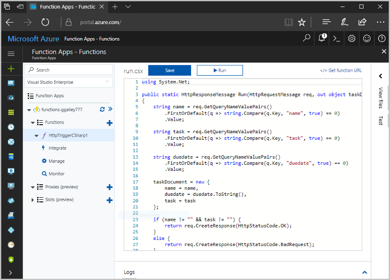 store unstructured data using azure cosmos db and