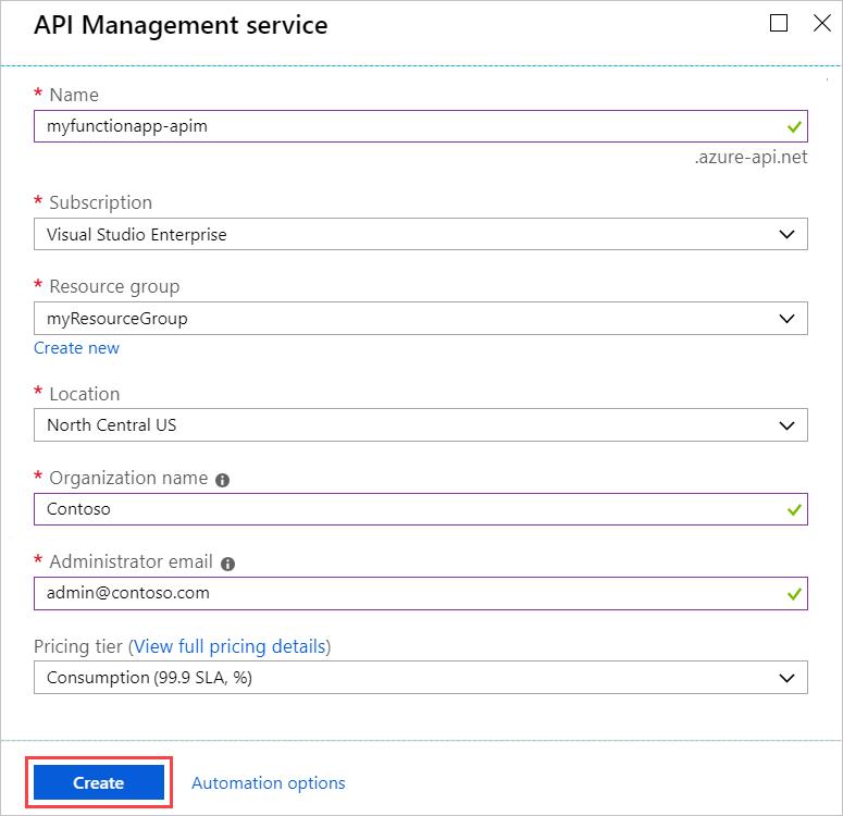 Create an OpenAPI definition for a serverless API using