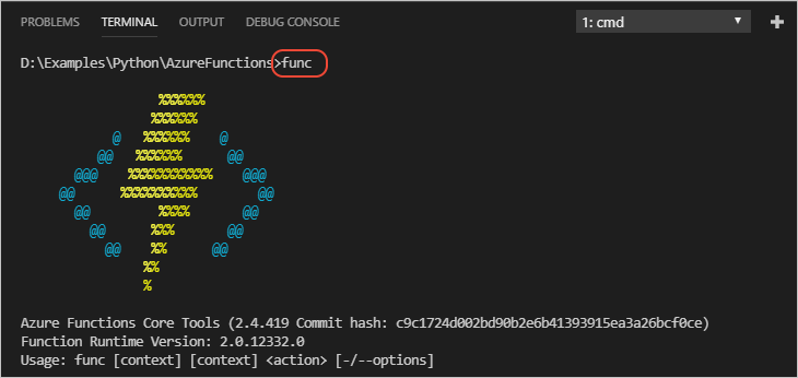 Create and deploy Azure Functions in Python with Visual