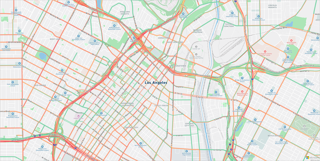 Min Dot Traffic Map.Multiple Routes With Azure Maps Microsoft Docs