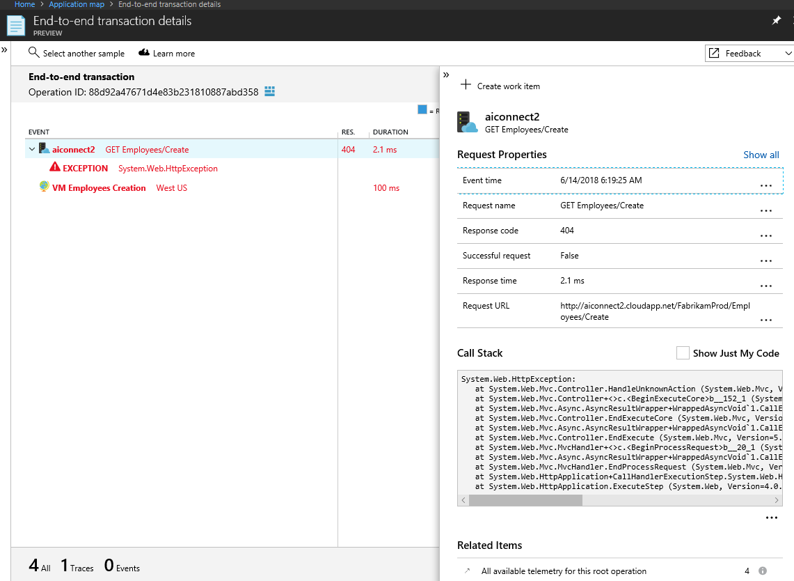 application map in azure application insights