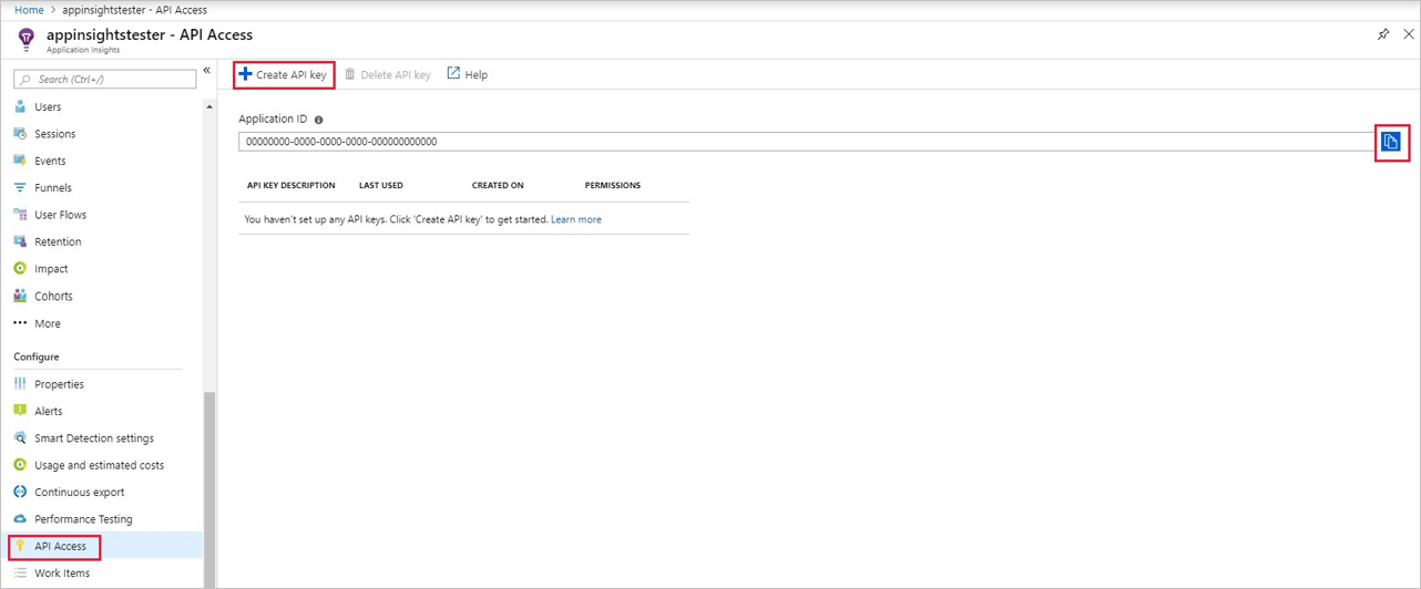 Application ID in the Azure portal