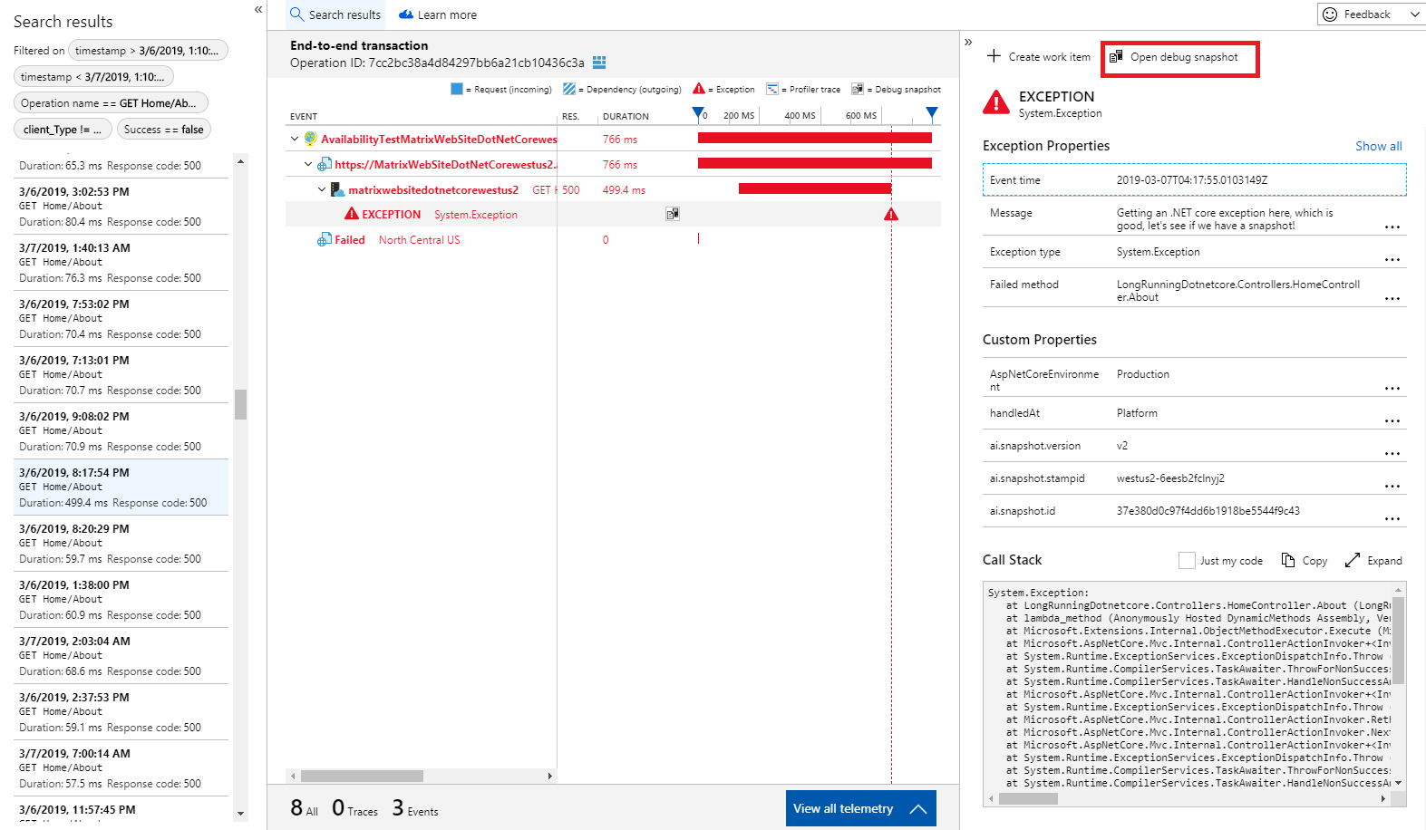 Azure Application Insights Snapshot Debugger for  NET apps