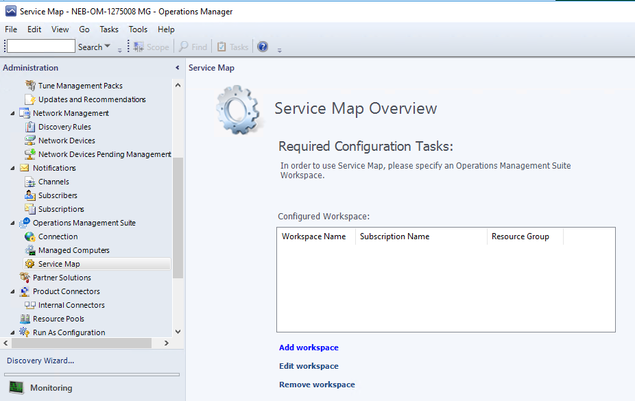 Azure Monitor for VMs integration with System Center Operations