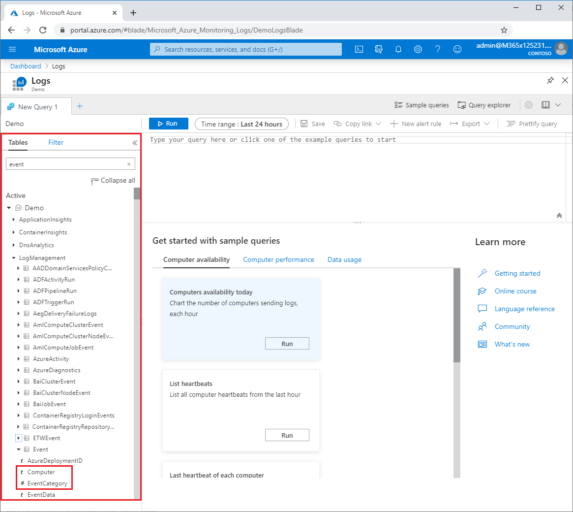 Get started with Azure Monitor Log Analytics | Microsoft Docs