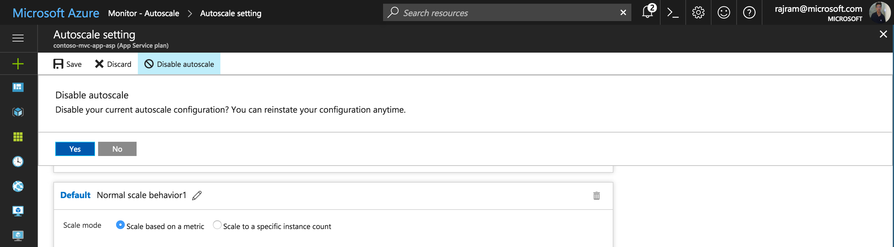 Get started with autoscale in Azure | Microsoft Docs