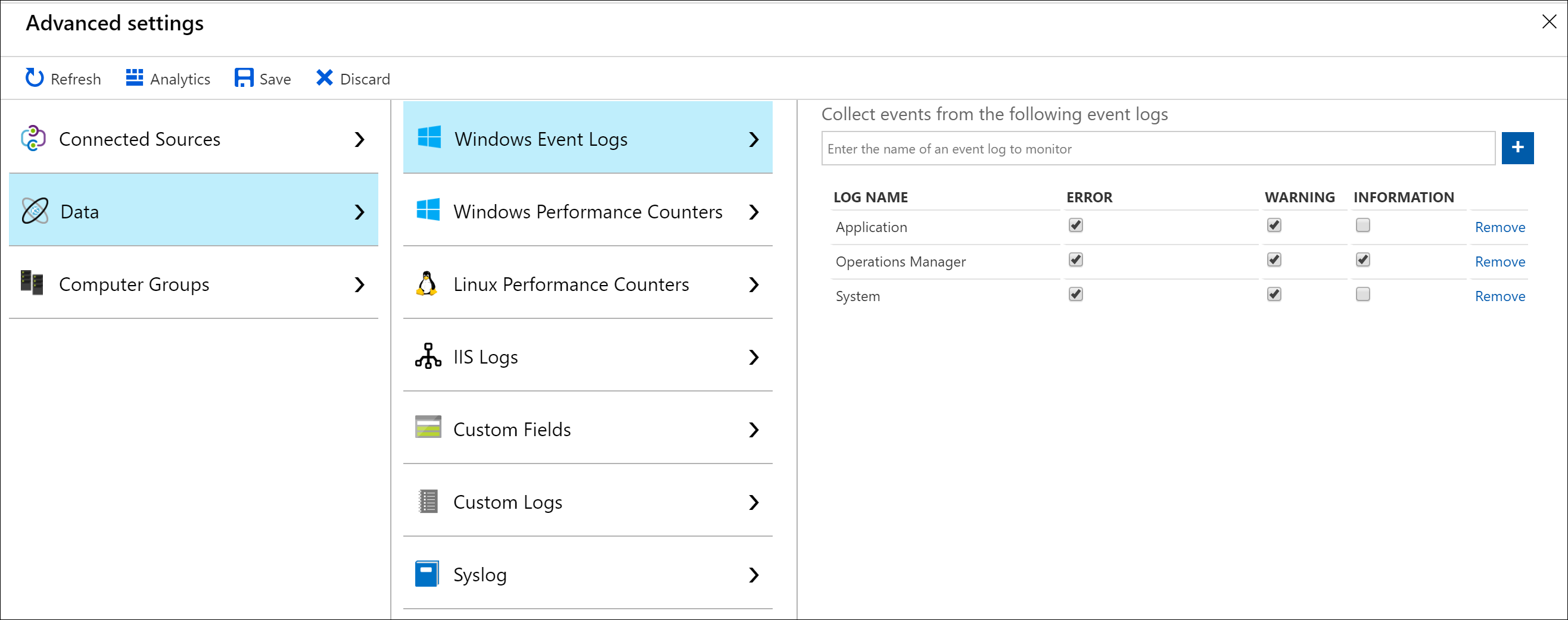 collect and analyze windows event logs in azure monitor microsoft docs