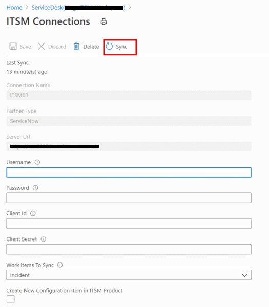 IT Service Management Connector in Azure Log Analytics