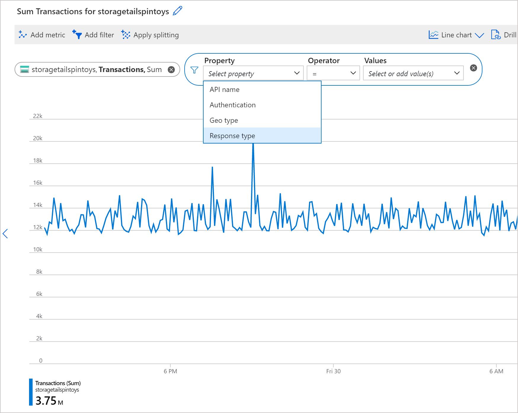 Advanced features of Azure Metrics Explorer | Microsoft Docs