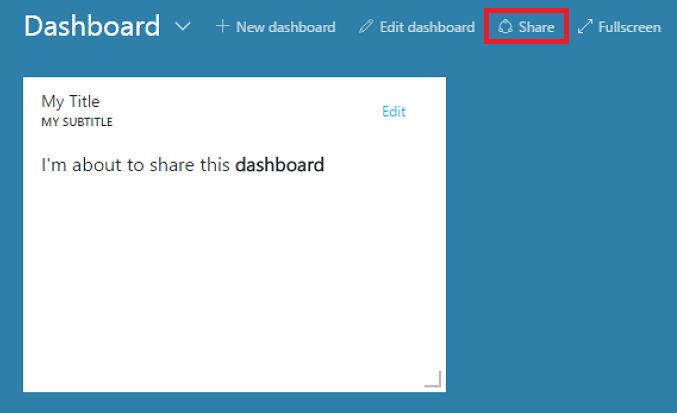 Create and share Azure portal dashboards   Microsoft Docs