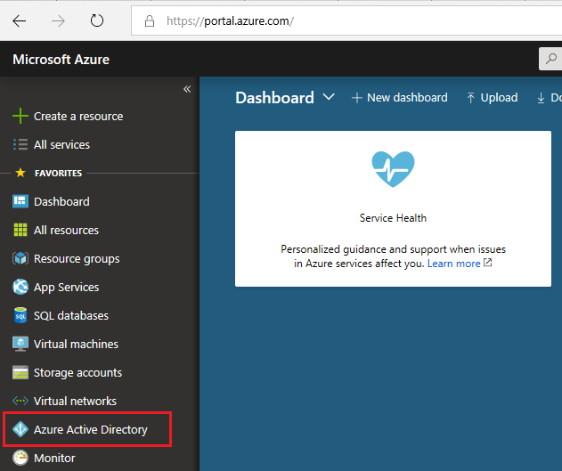 select azure active directory