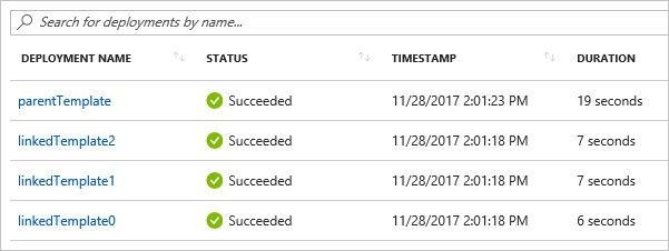 Link templates for Azure deployment | Microsoft Docs