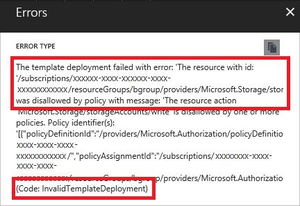 Troubleshoot common Azure deployment errors | Microsoft Docs