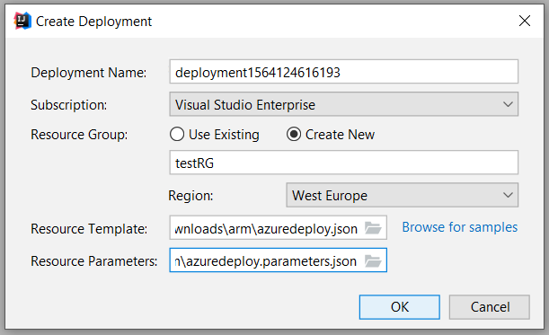 Create and deploy an Azure Resource Manager template by