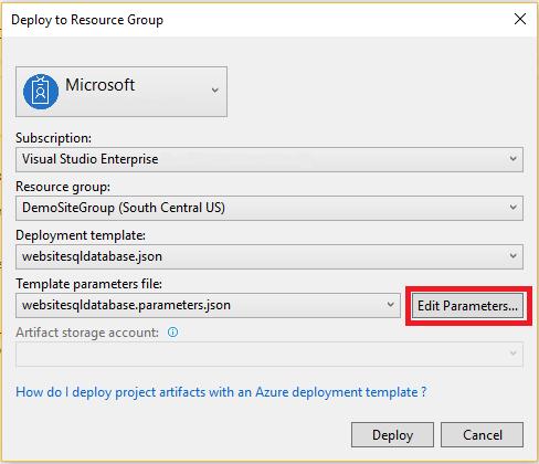 Visual Studio Azure resource group projects | Microsoft Docs
