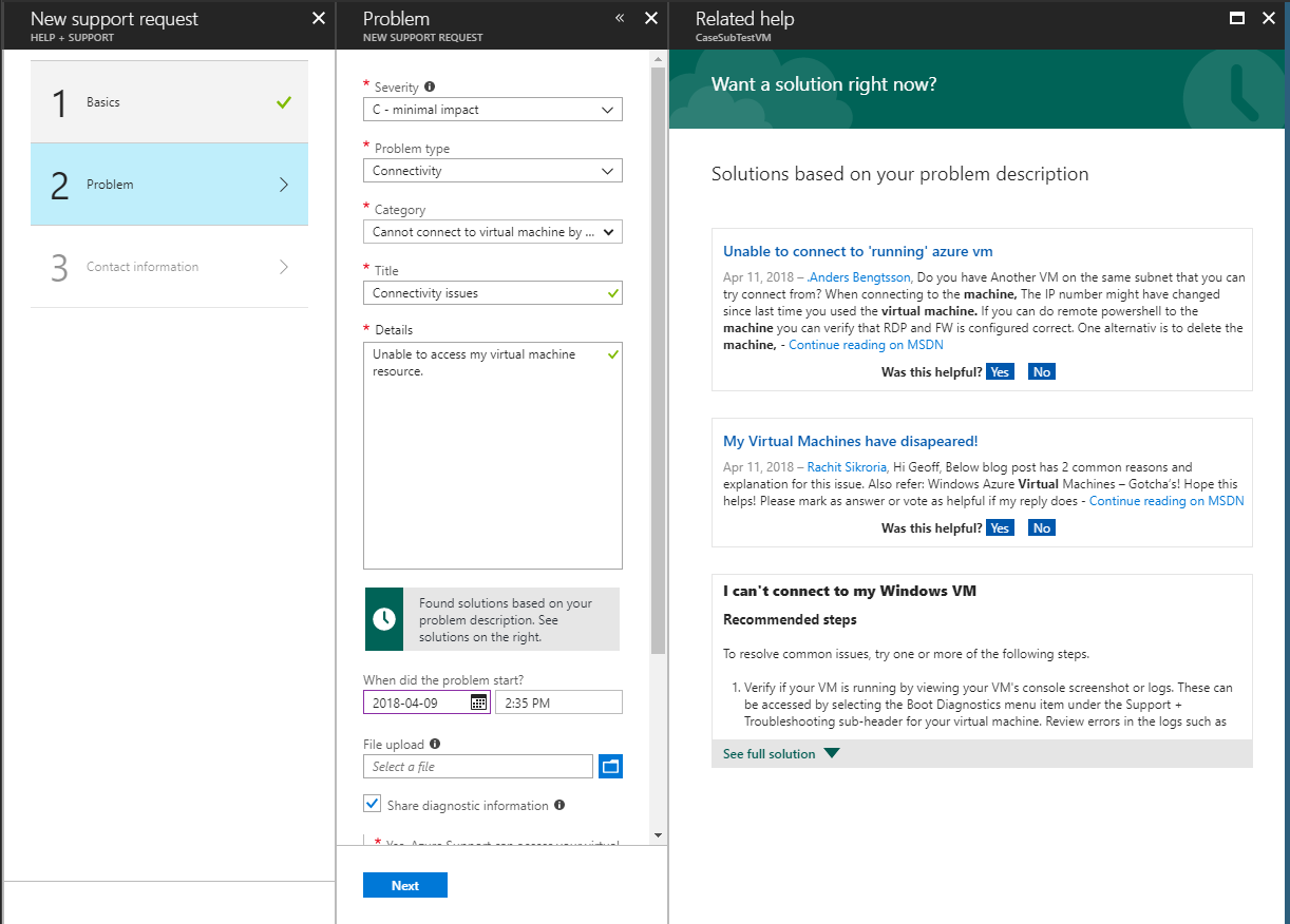 How to create an Azure support request | Microsoft Docs