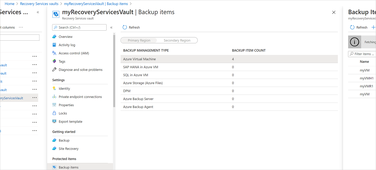 Manage and monitor Azure VM backups by using the Azure
