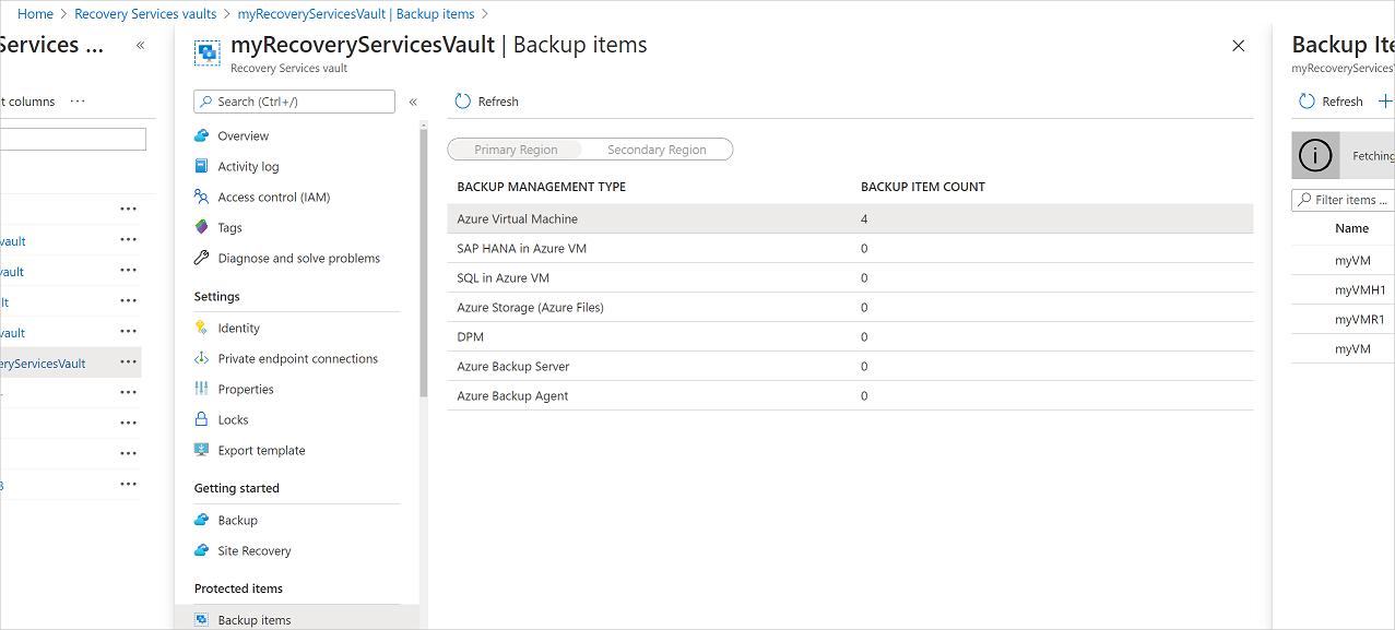 Manage and monitor Azure VM backups by using the Azure Backup