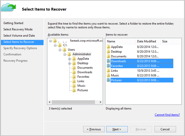 time machine backup windows server