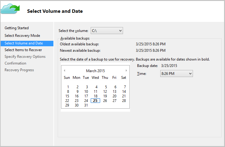 access time machine from windows