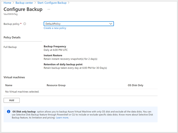Back up and restore encrypted Azure VMs with Azure Backup
