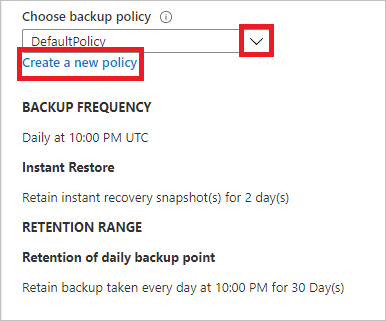 Back up an Azure VM from the VM settings with the Azure Backup