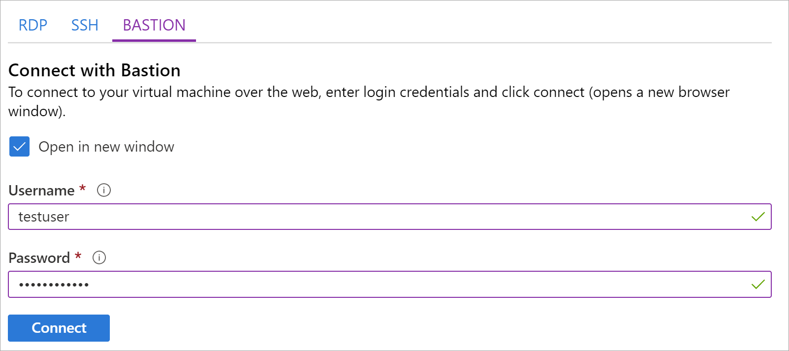 Connect to a Windows VM using Azure Bastion | Microsoft Docs