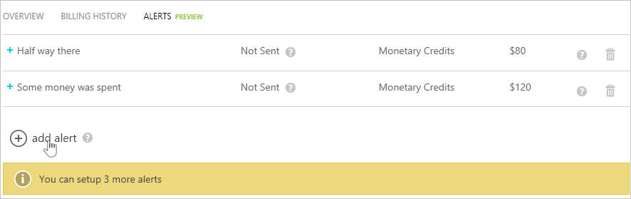 Set up billing or credit alerts for Azure subscriptions ...