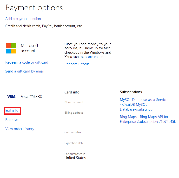 how to delete payment method on gmail account