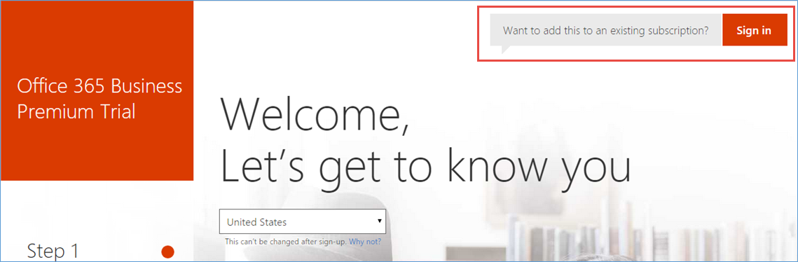 Sign up for Office 365 with Azure account | Microsoft Docs