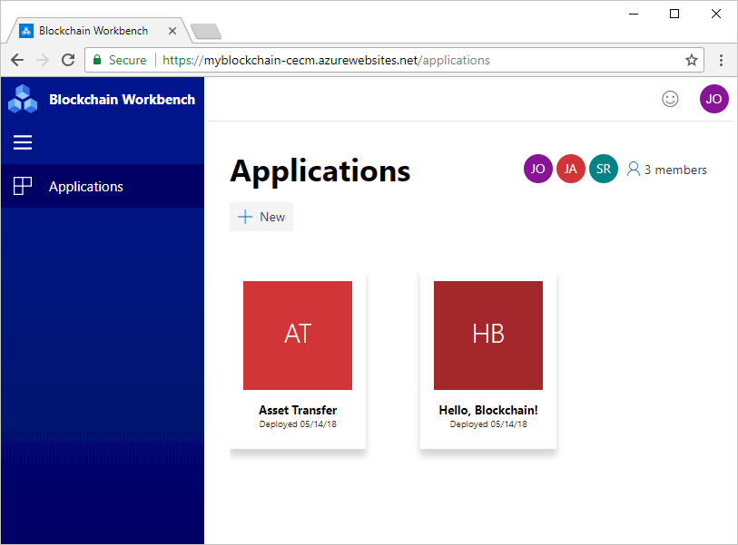 Using applications in Azure Blockchain Workbench | Microsoft